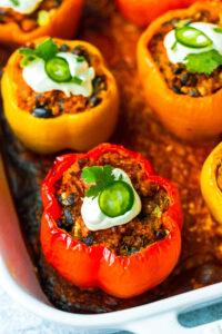 Vegan Enchilada Stuffed Bell Peppers