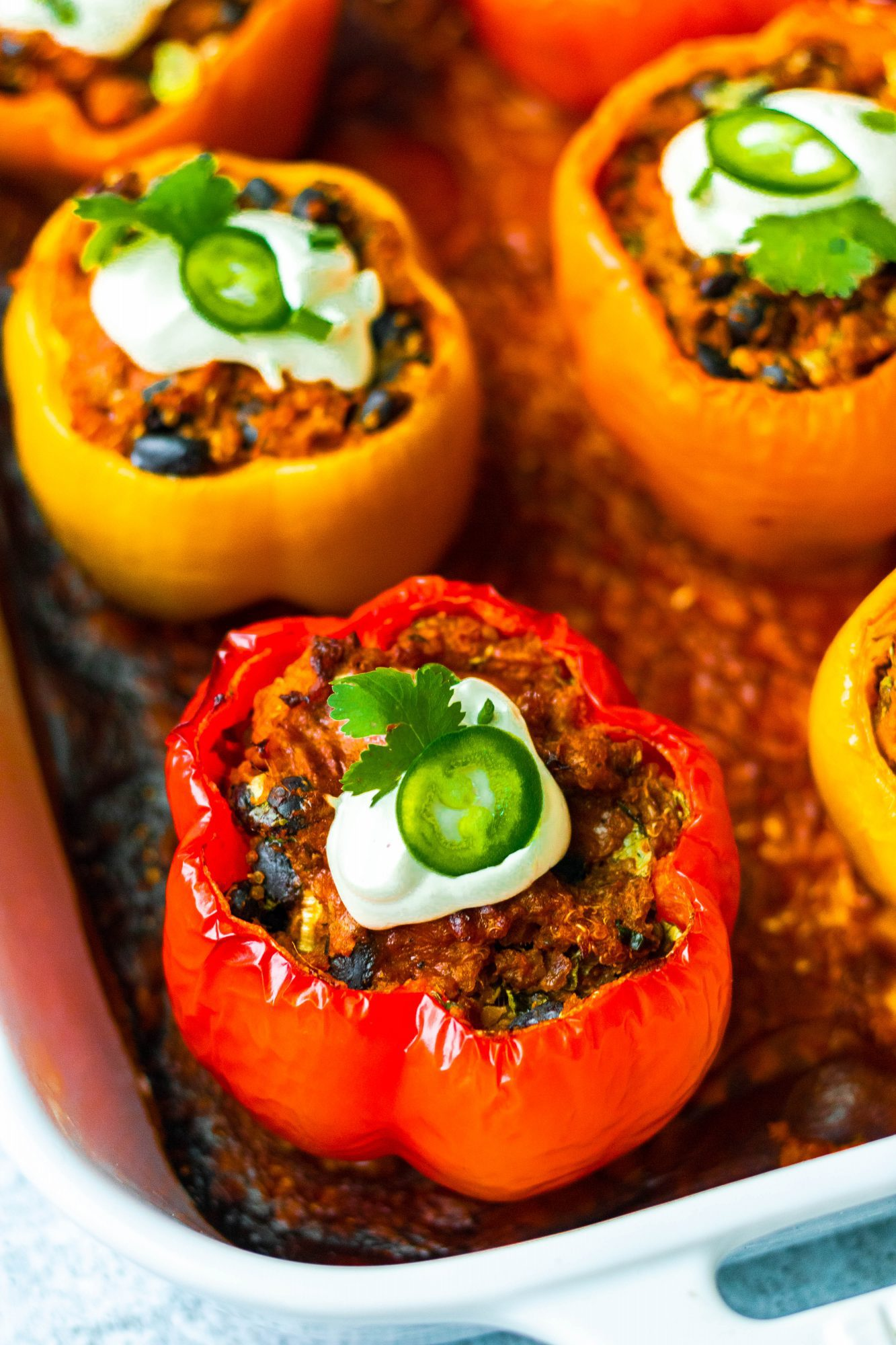 Vegan Enchilada Stuffed Bell Peppers
