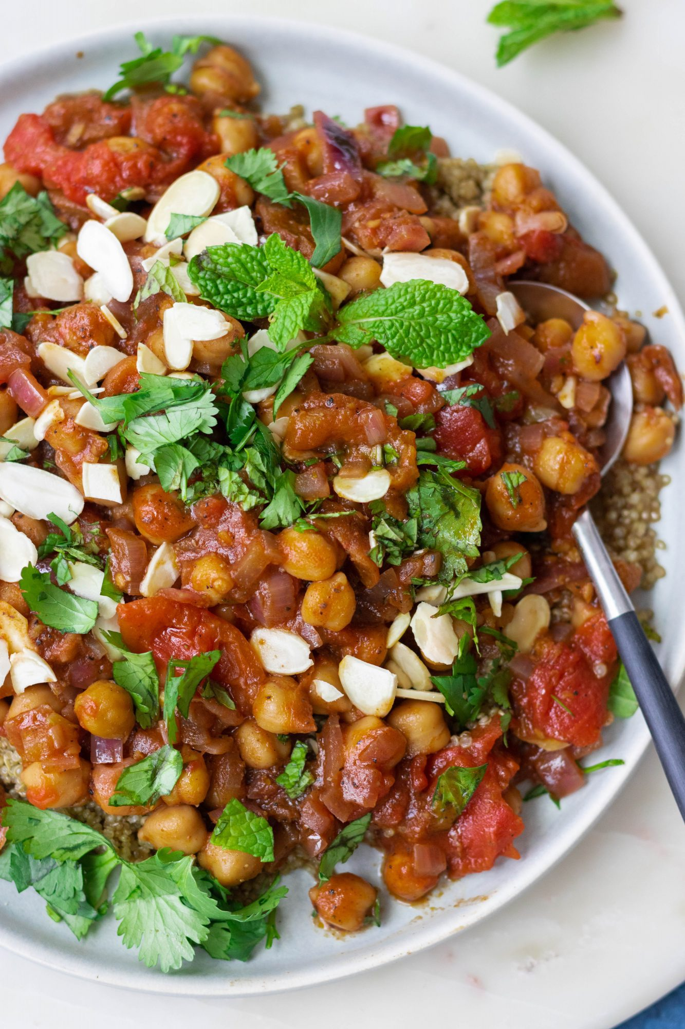 Easy Moroccan Spiced Chickpeas