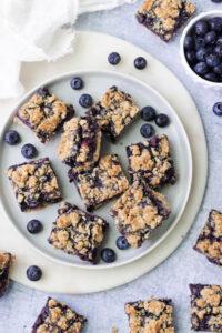 Vegan Blueberry Crumble Bars