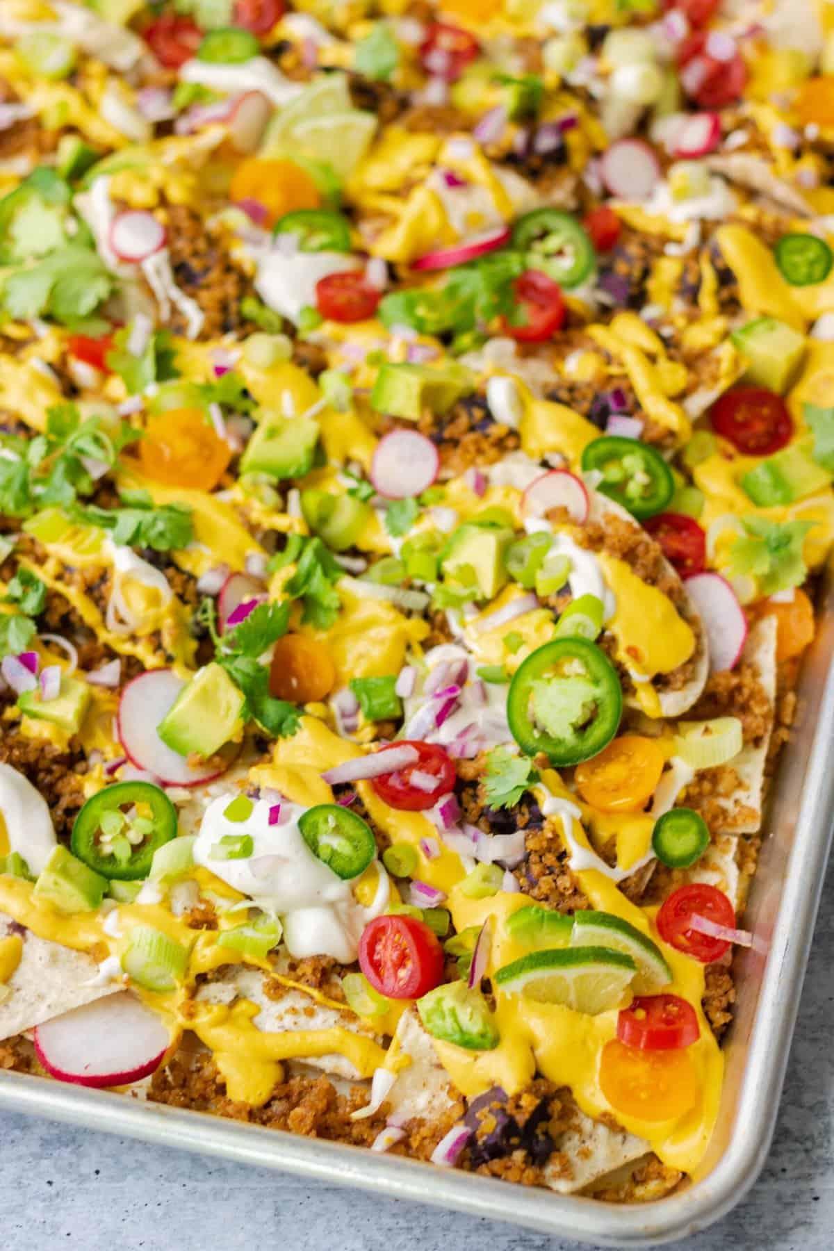 Colorful Vegan Nachos