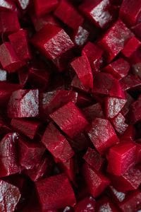 Cooked Beets Cut Into Cubes