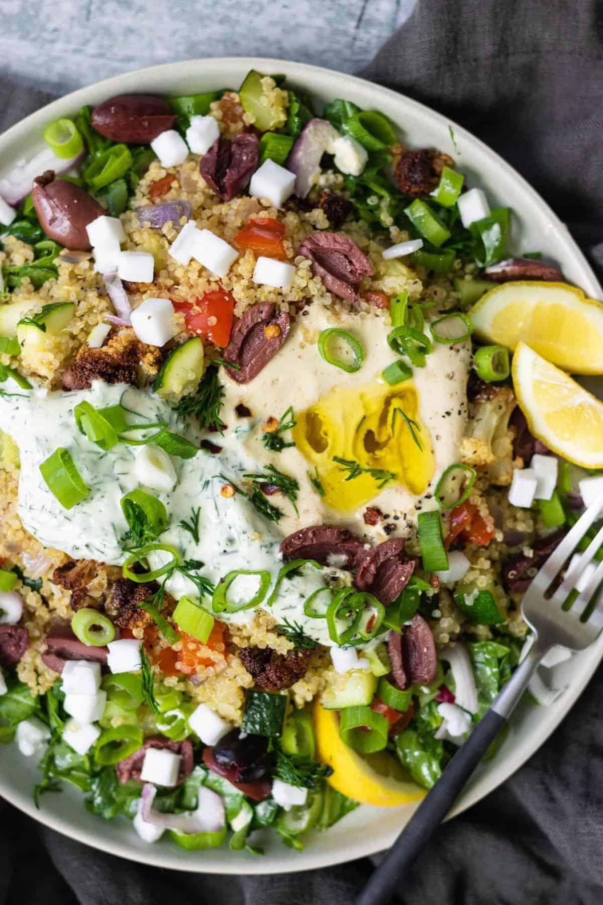 Vegan Mediterranean Quinoa Bowl Recipe