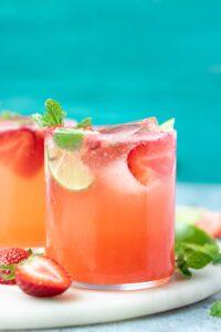 Strawberry Mint Lime Sparkler Recipes