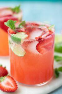 Strawberry Mint Lime Sparkler Recipe