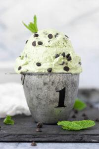 Vegan No-Churn Mint Chocolate Chip Ice Cream