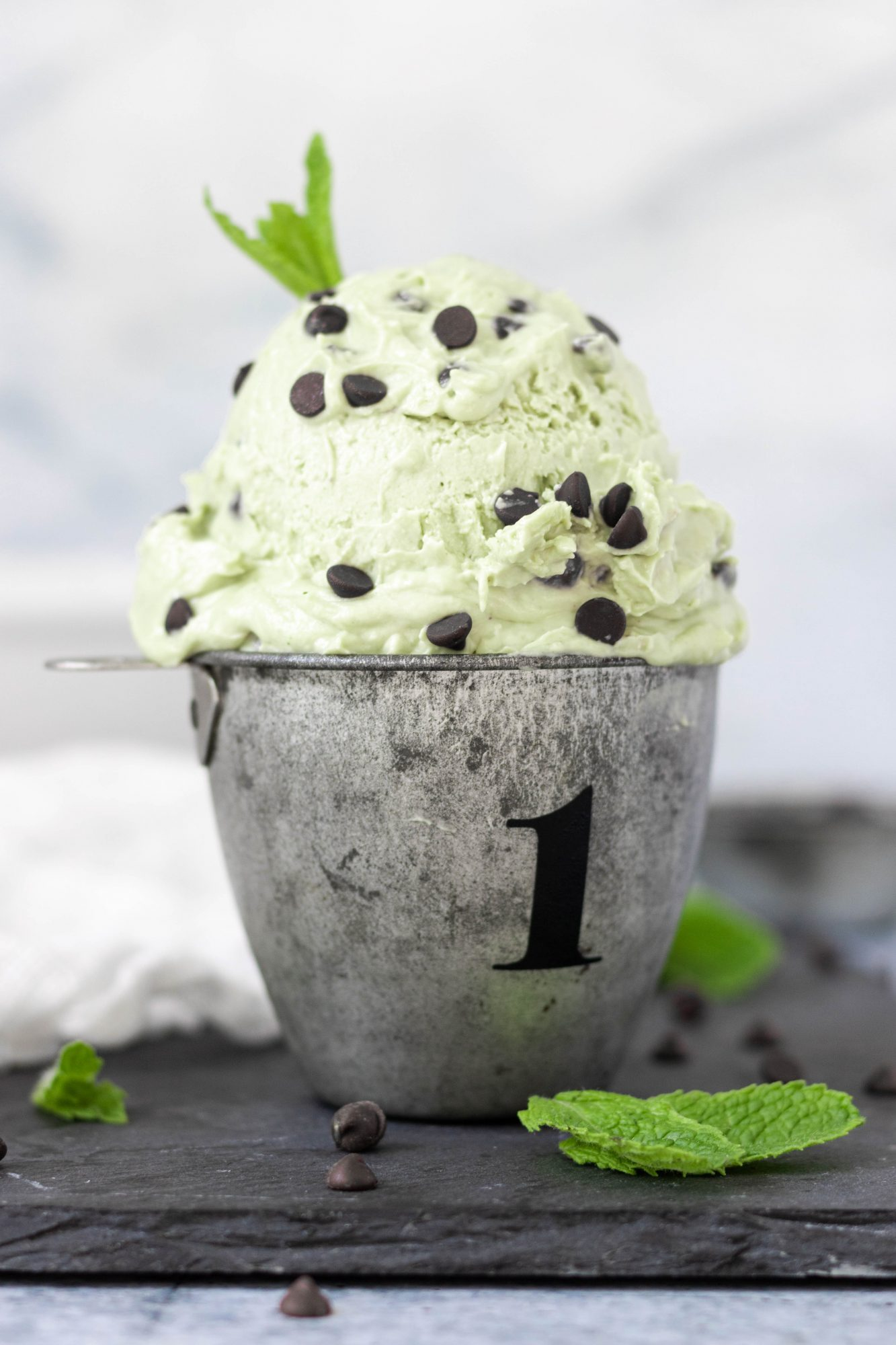 Vegan No-Churn Mint Chocolate Chip Ice Cream