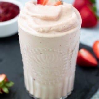 Vegan Strawberries and Cream Smoothie