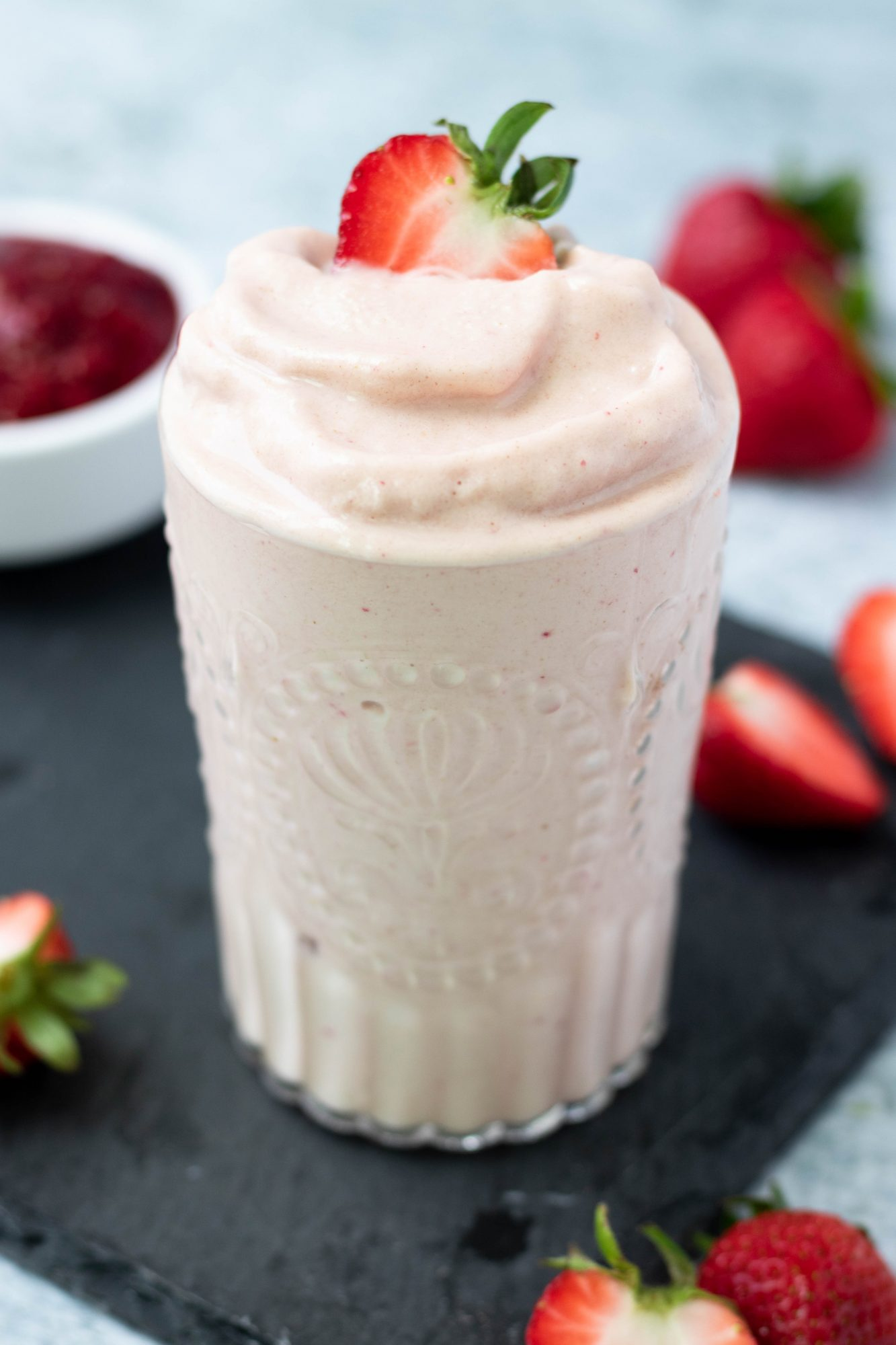 Vegan Strawberries and Cream Smoothie