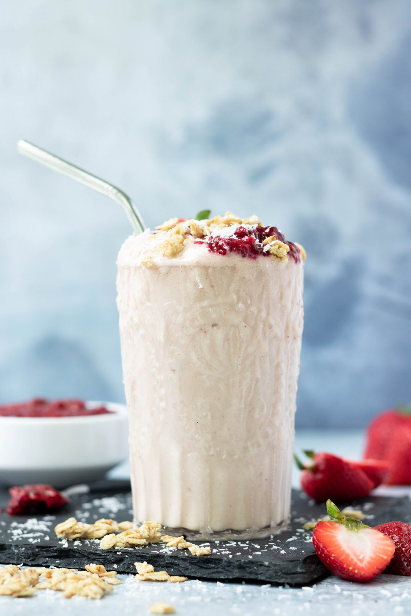 Vegan Strawberry Cauliflower Smoothie