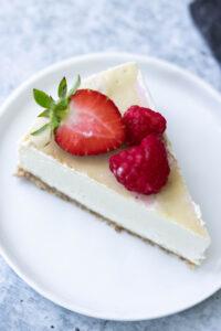 Vegan Cheesecake Slice