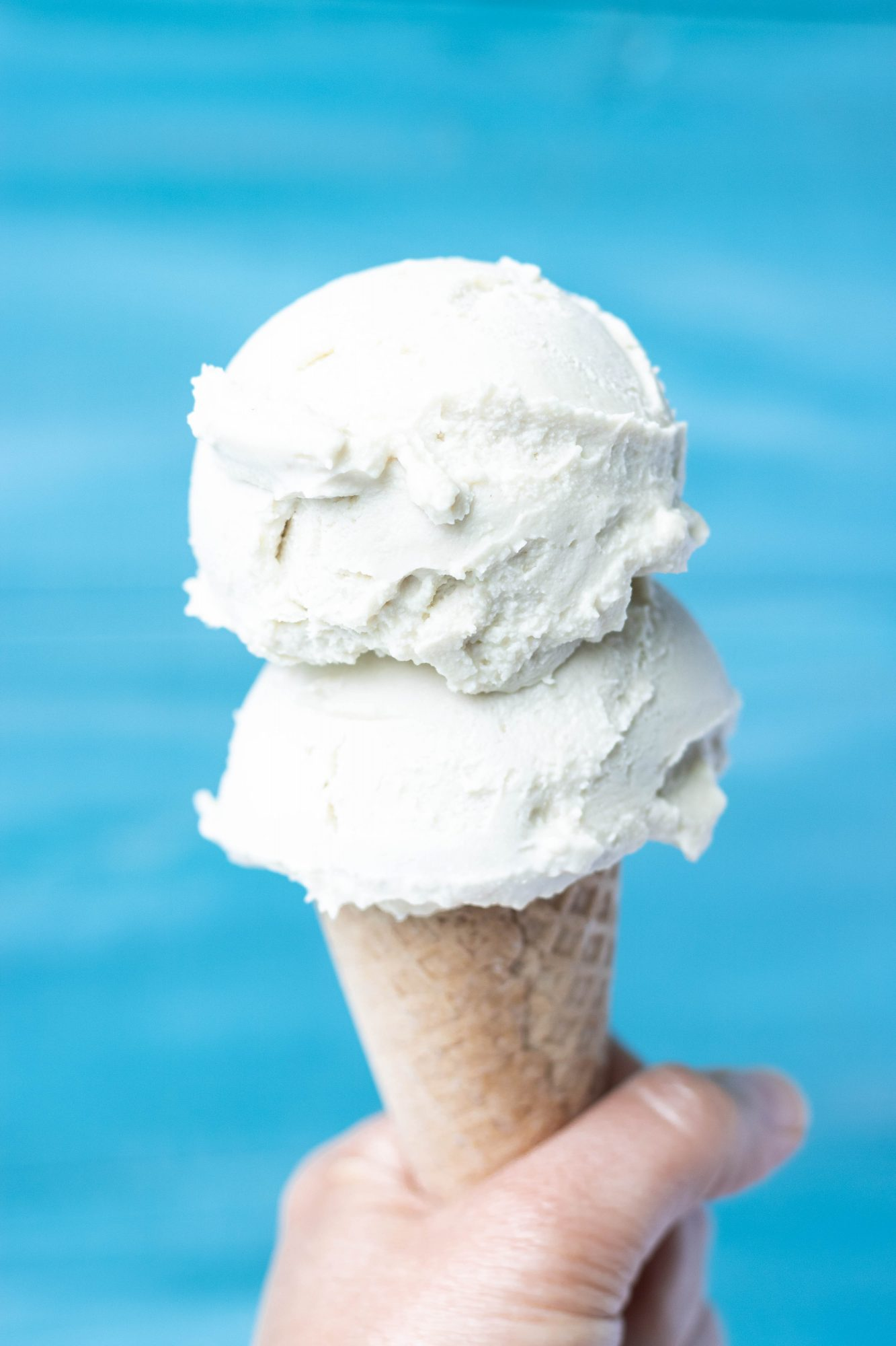 No-Churn Vegan + Refined Sugar-Free Vanilla Ice Cream
