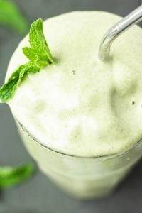 Mint Wheatgrass Smoothie