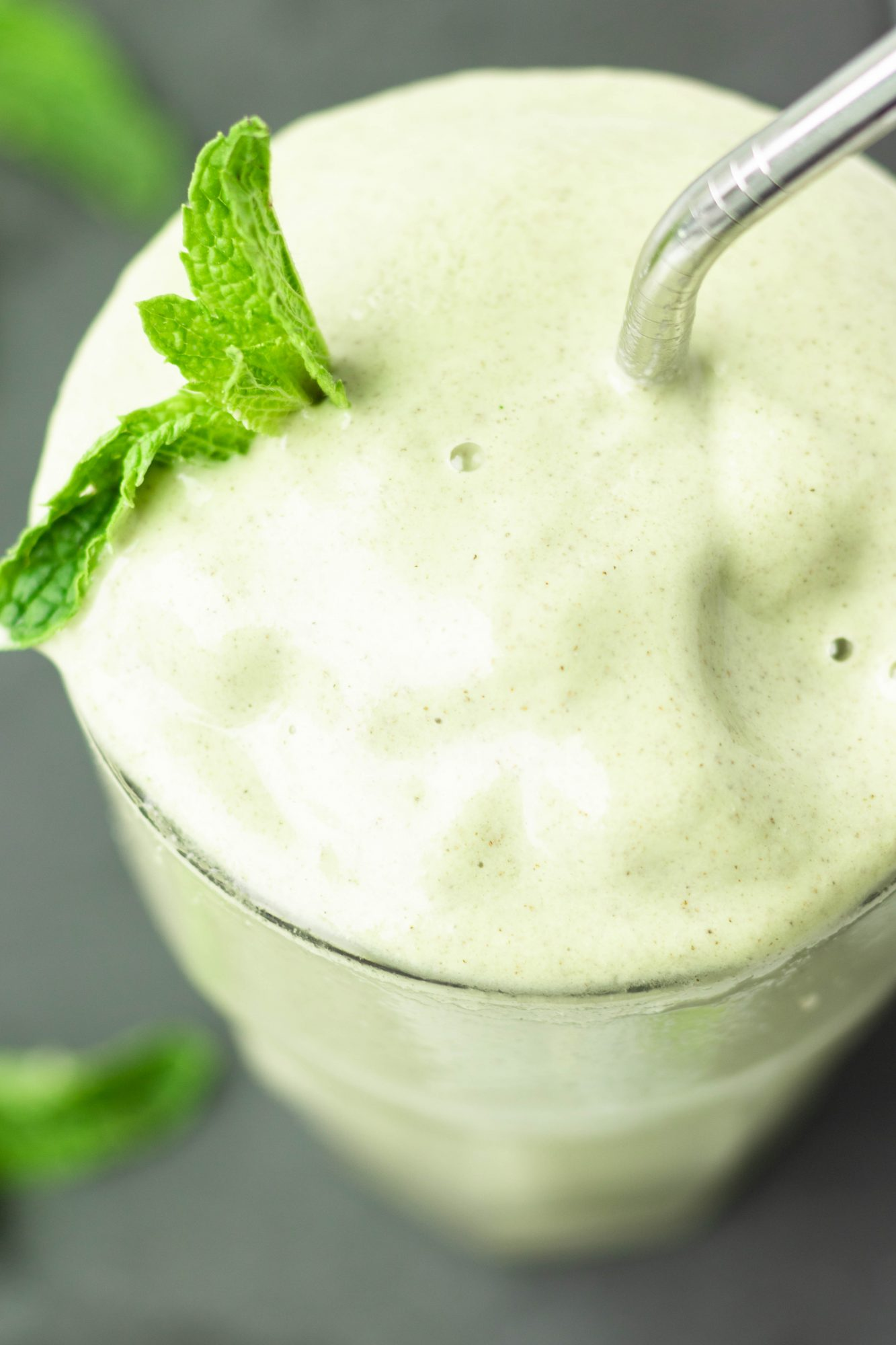 Mint Wheatgrass Smoothie