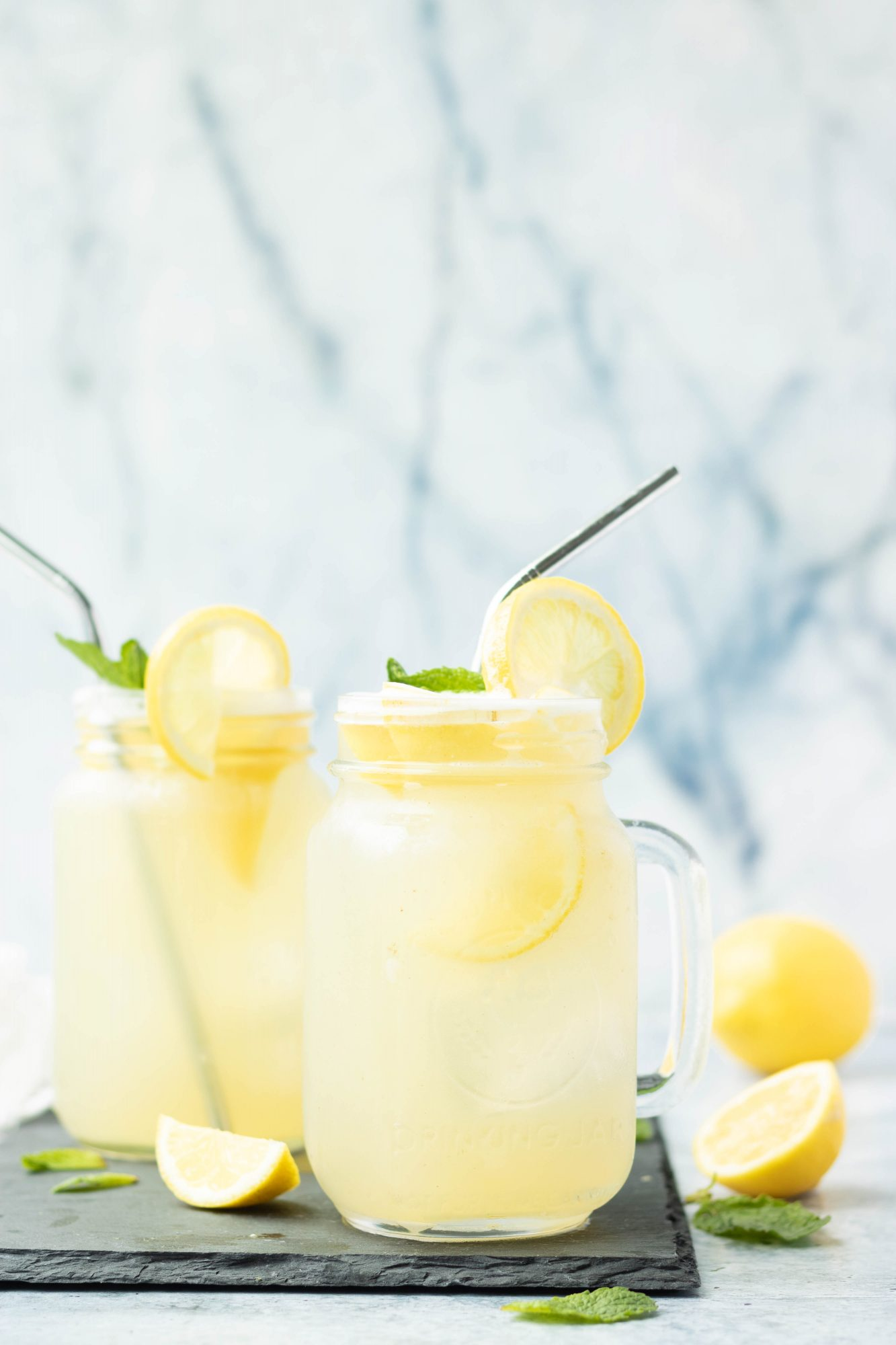 Homemade Refined Sugar-Free Lemonade