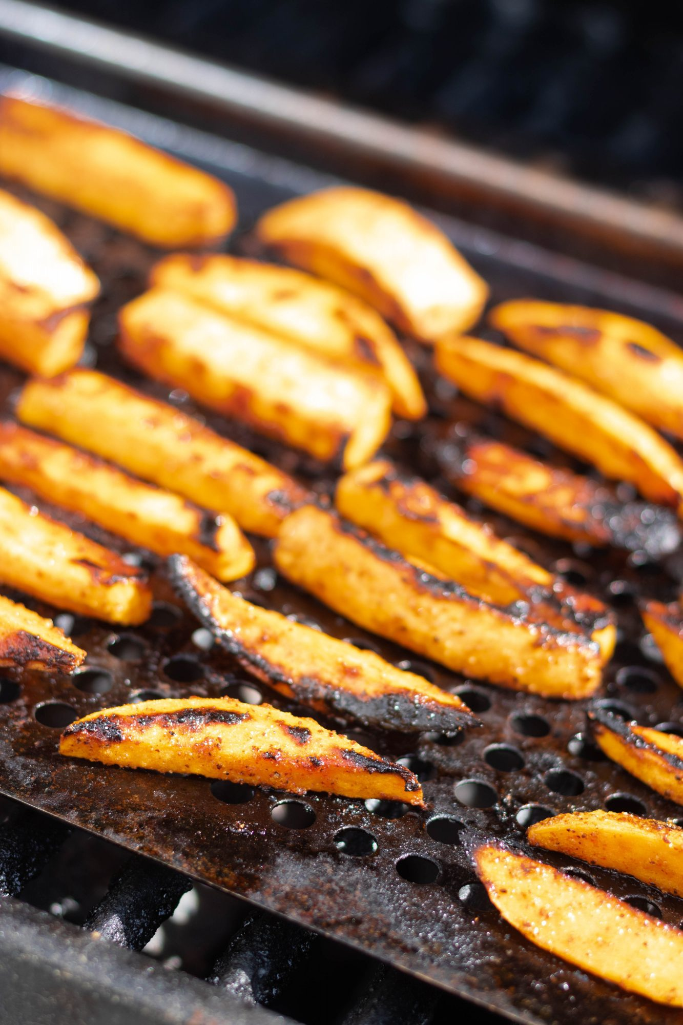 Sweet Potato Fries on the Grill