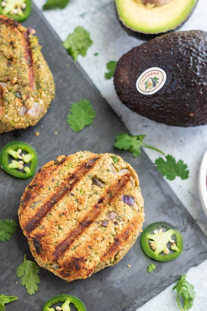 avocado veggie burger
