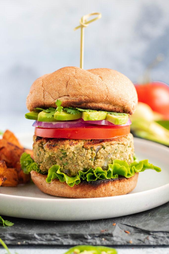 California Avocado Veggie Burger