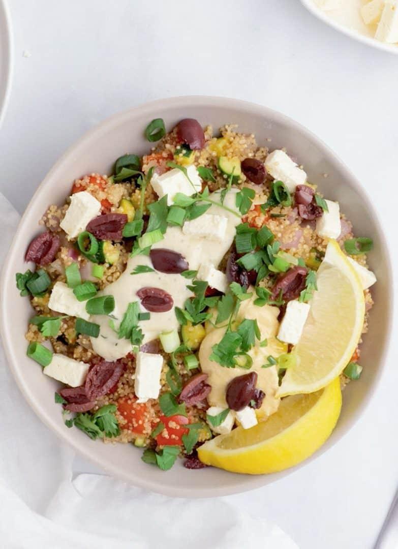 Vegan Greek Quinoa Bowl