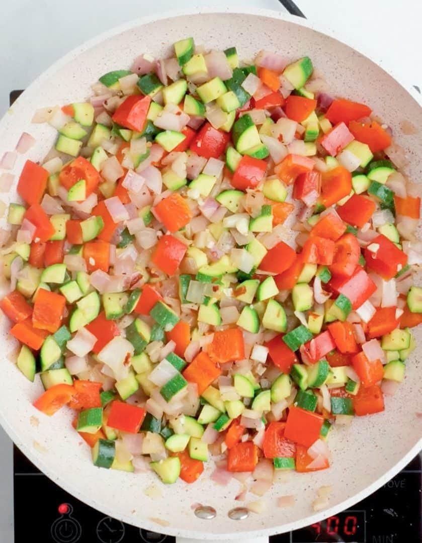 Sauteed Veggies for Mediterranean Quinoa Bowl
