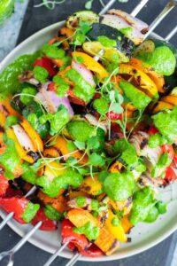 rainbow veggie kebabs