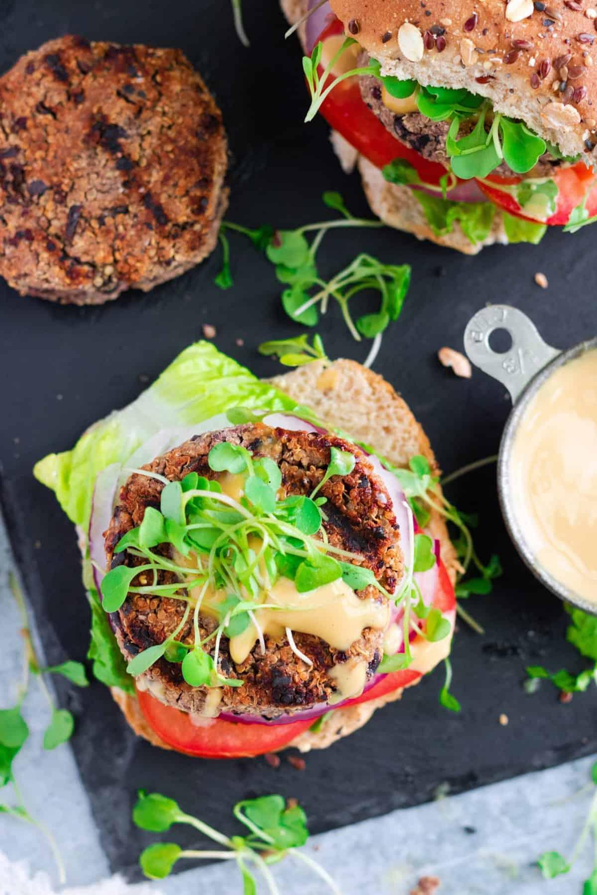 Black Bean Quinoa Veggie Burger Recipe