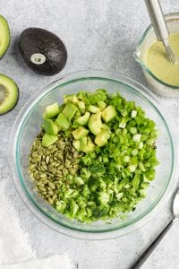 Broccoli Salad Ingredients Before Mixed
