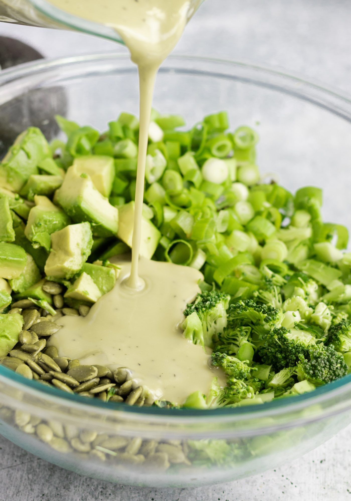 Raw Creamy Dairy-Free Broccoli Salad with Tahini Dressing