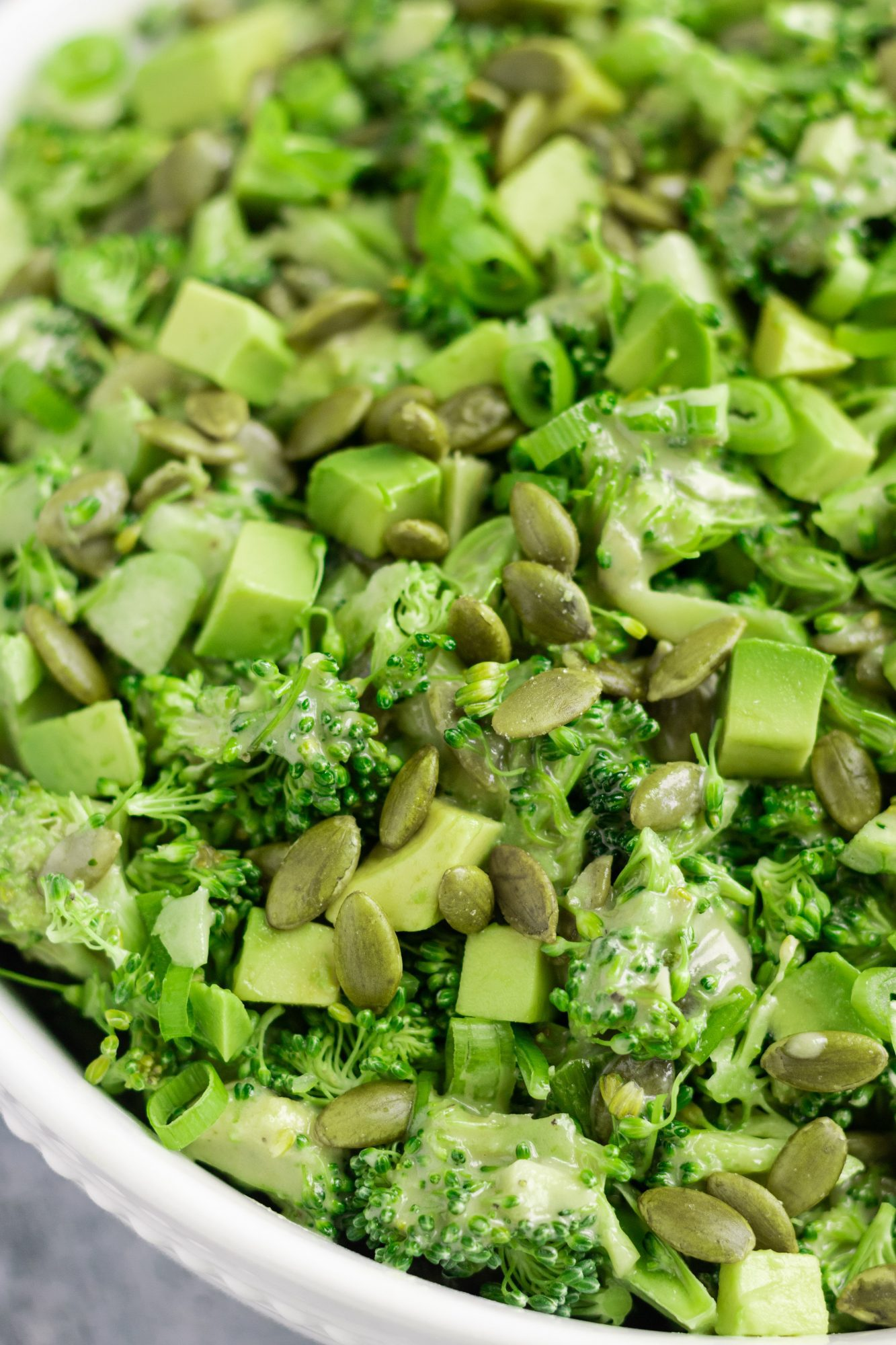 Raw Broccoli Avocado Salad