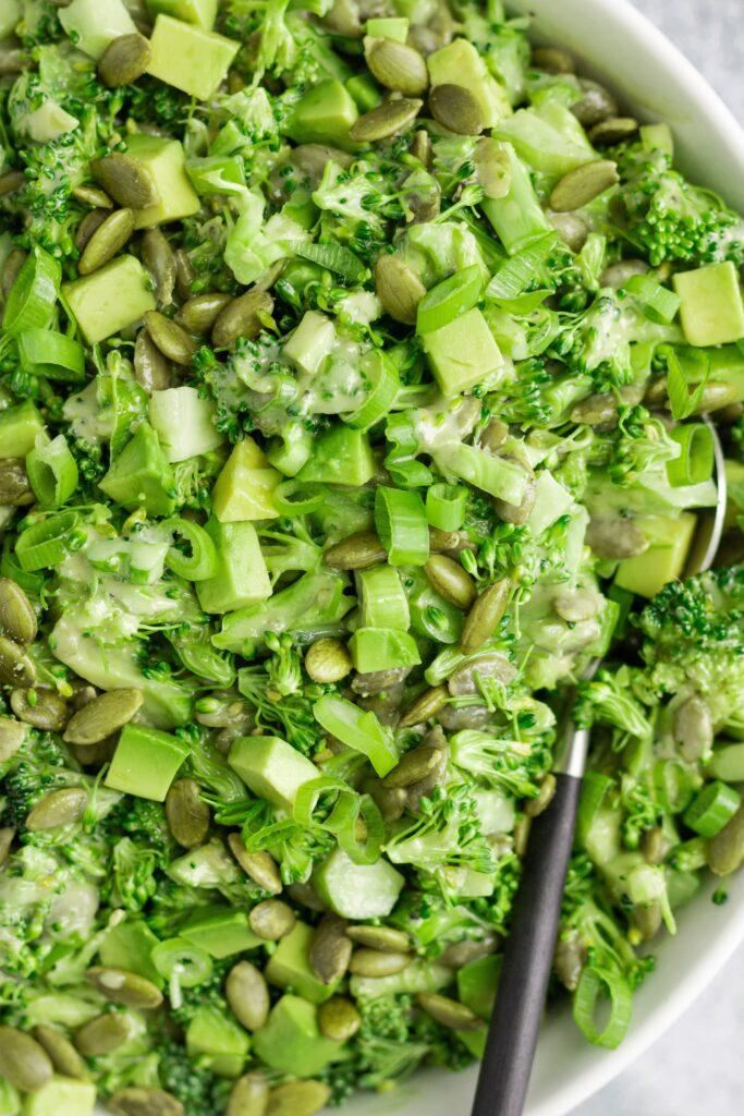 Broccoli Pepita Avocado Green Onion Salad