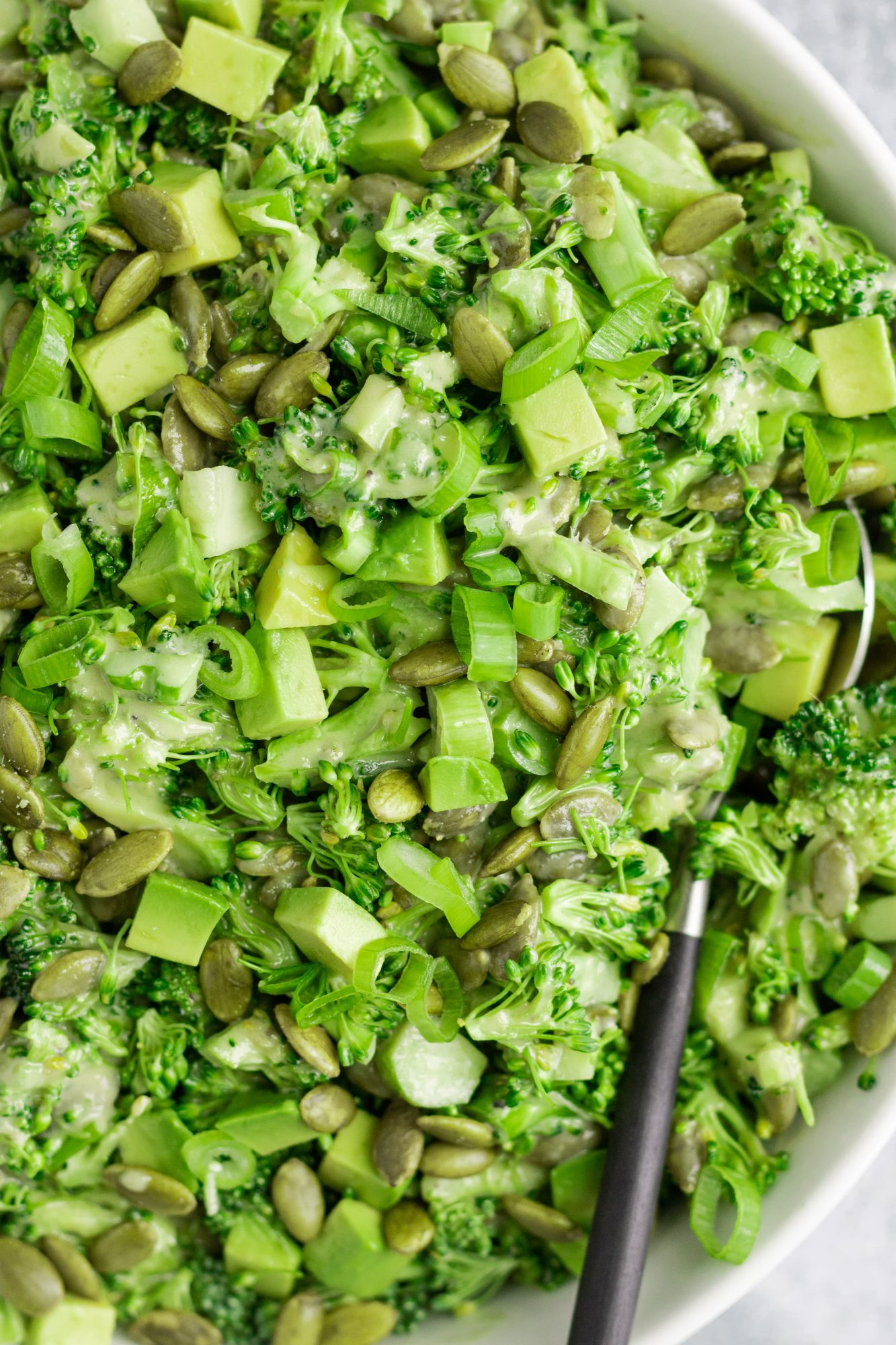 Broccoli Pepita Avocado Green Onion Salad