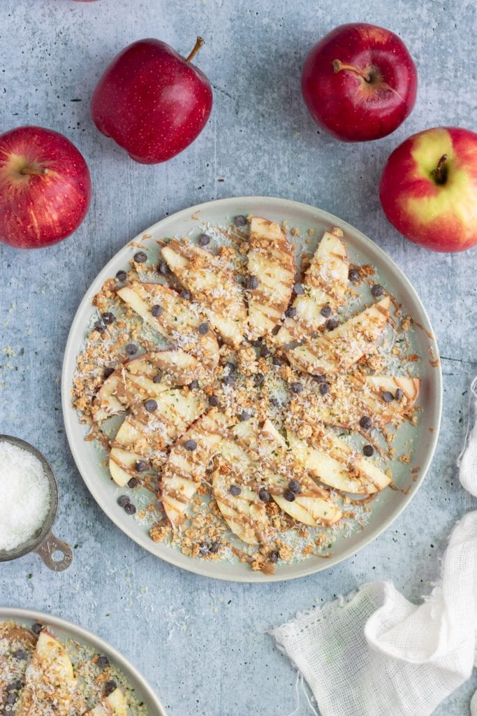 vegan apple nachos