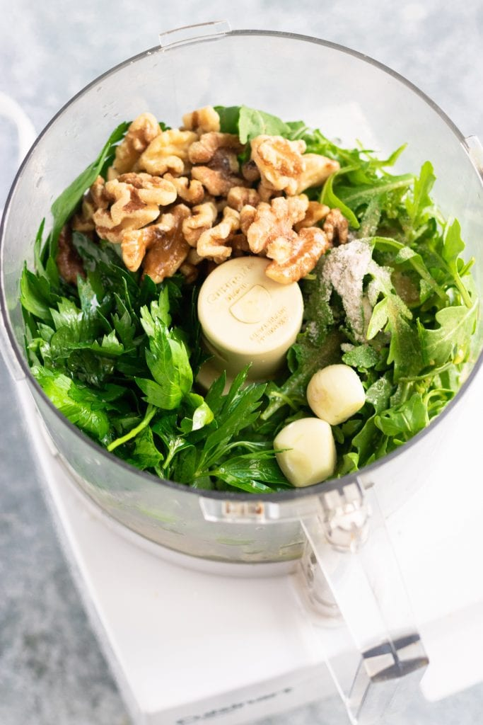 parsley arugula walnut pesto