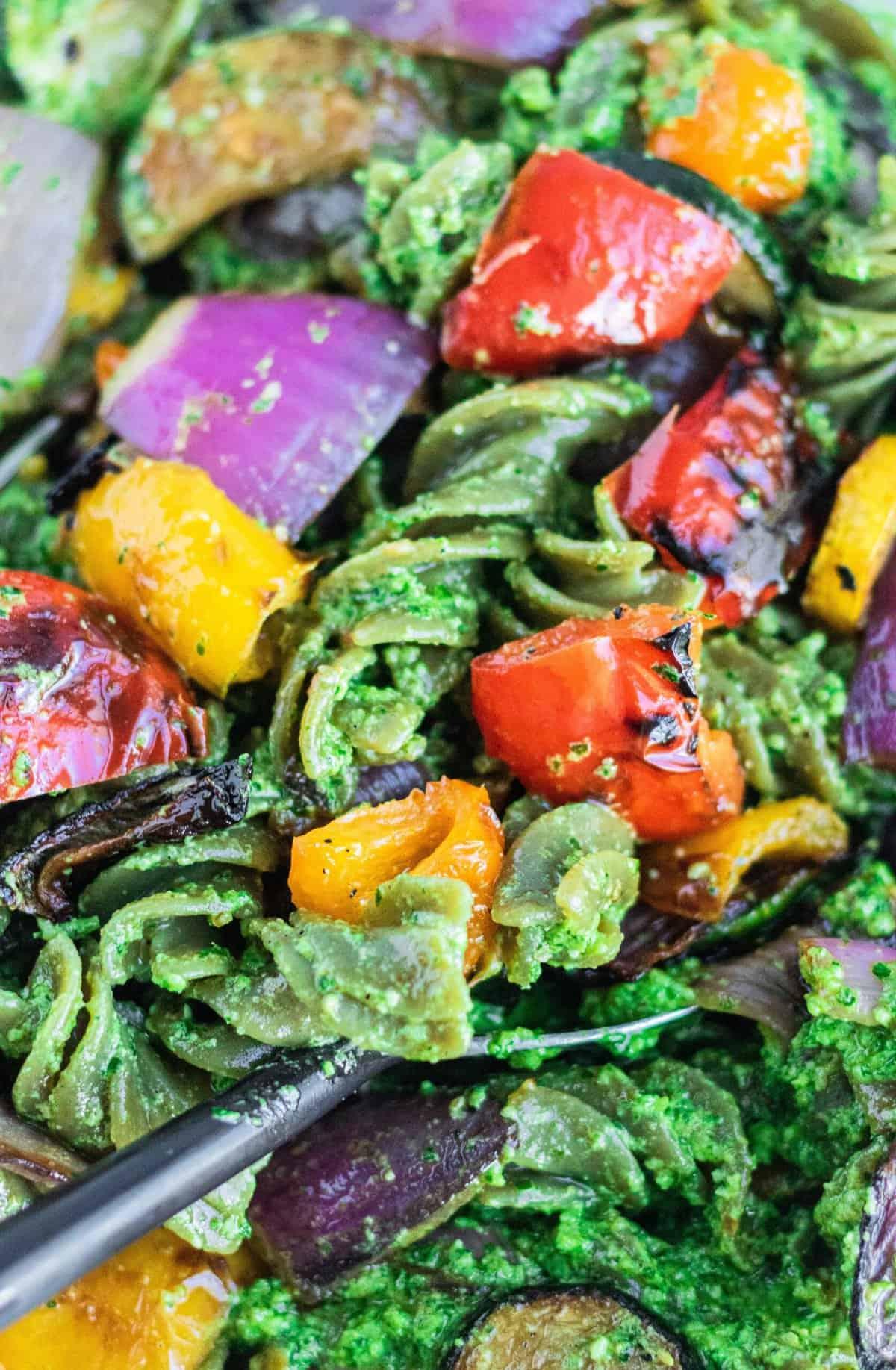 Pesto Pasta with Summer Veggies