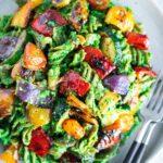 Grilled Veggie Pesto Pasta