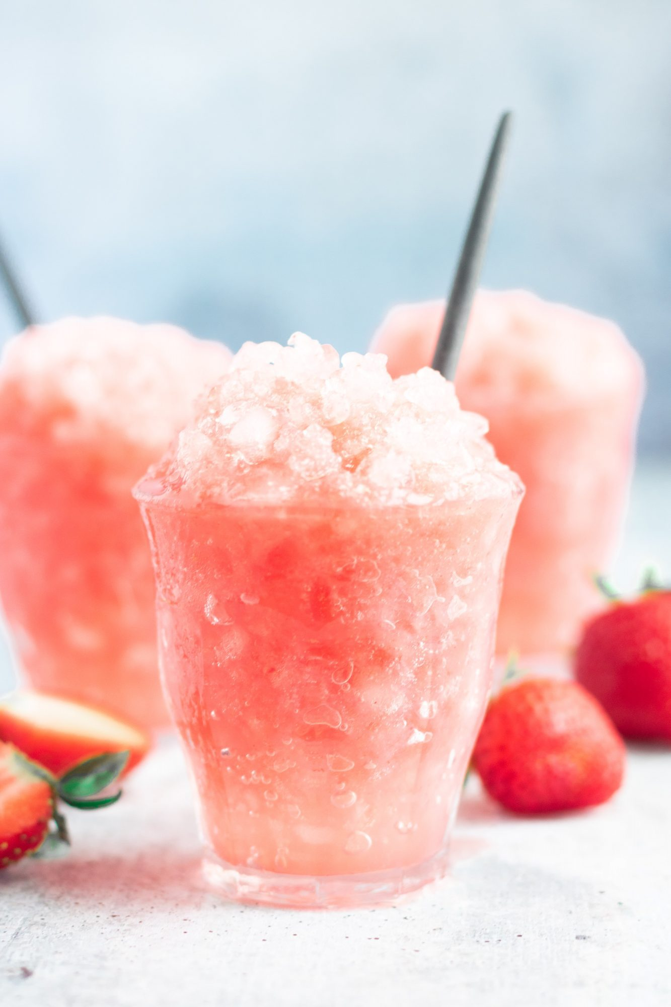 strawberry snow cone