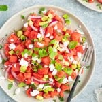 Vegan Watermelon Avocado Mint Salad
