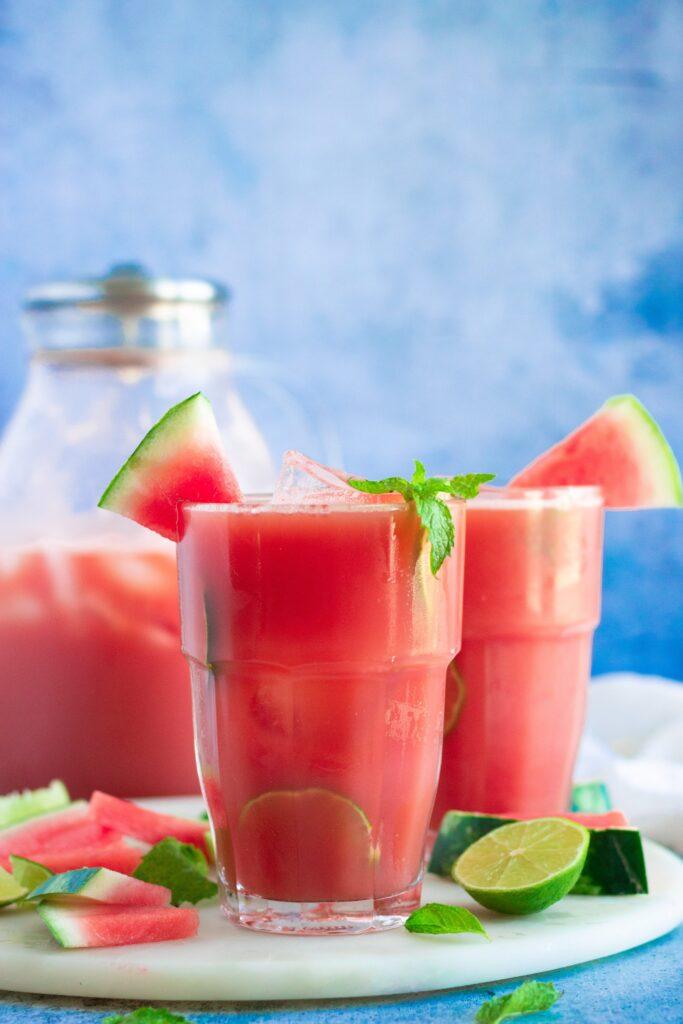 watermelon mint lime agua fresca