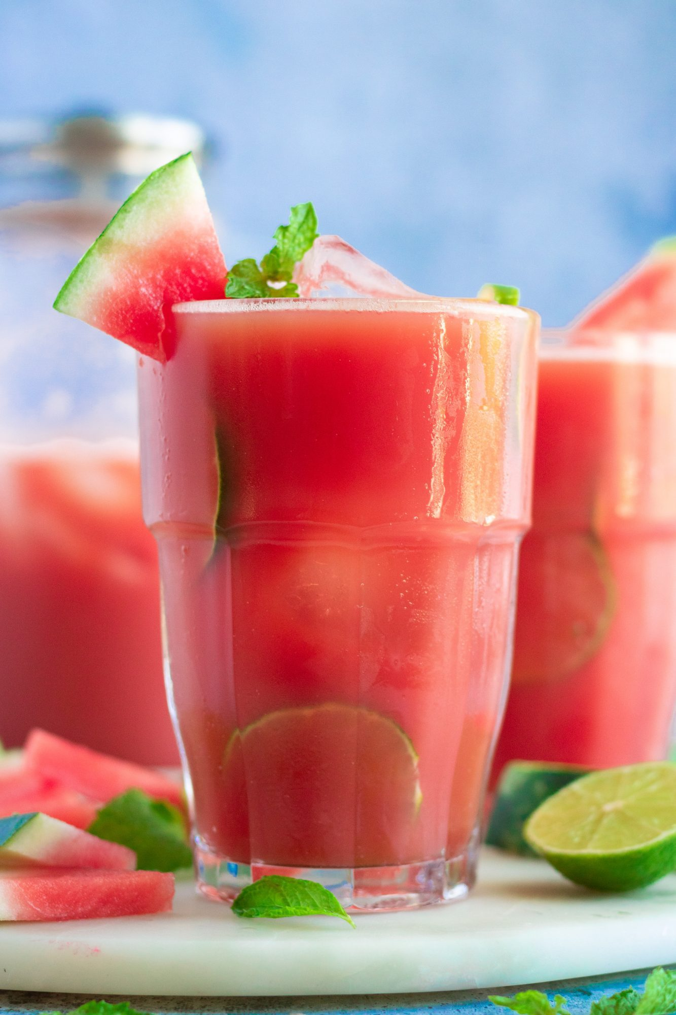 Watermelon Mint Lime Aqua Fresca