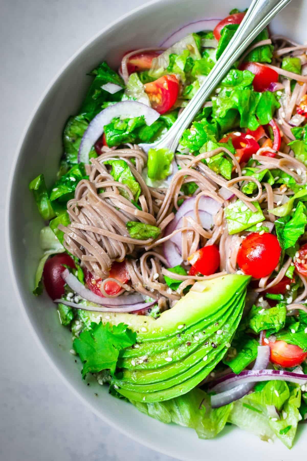 Soba Noodle Sesame Salad