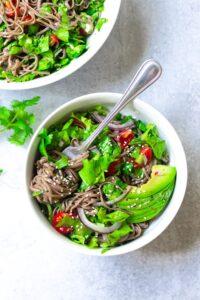 Vegan Sesame Soba Noodle Salad