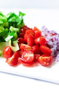 Soba Noodle Salad Produce Ingredients