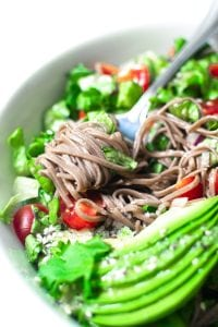 Avocado Buckwheat Soba Noodle Salad