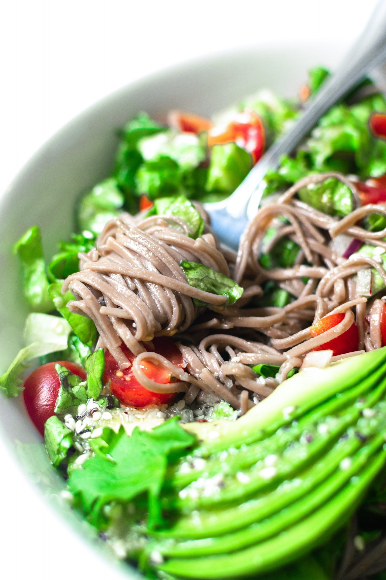Avocado Buckwheat Soba Noodle Salad