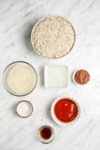 Healthy Chocolate Granola Ingredients
