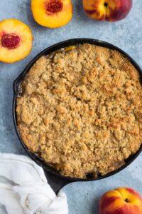 Vegan Gluten-Free Grilled Peach Cobbler