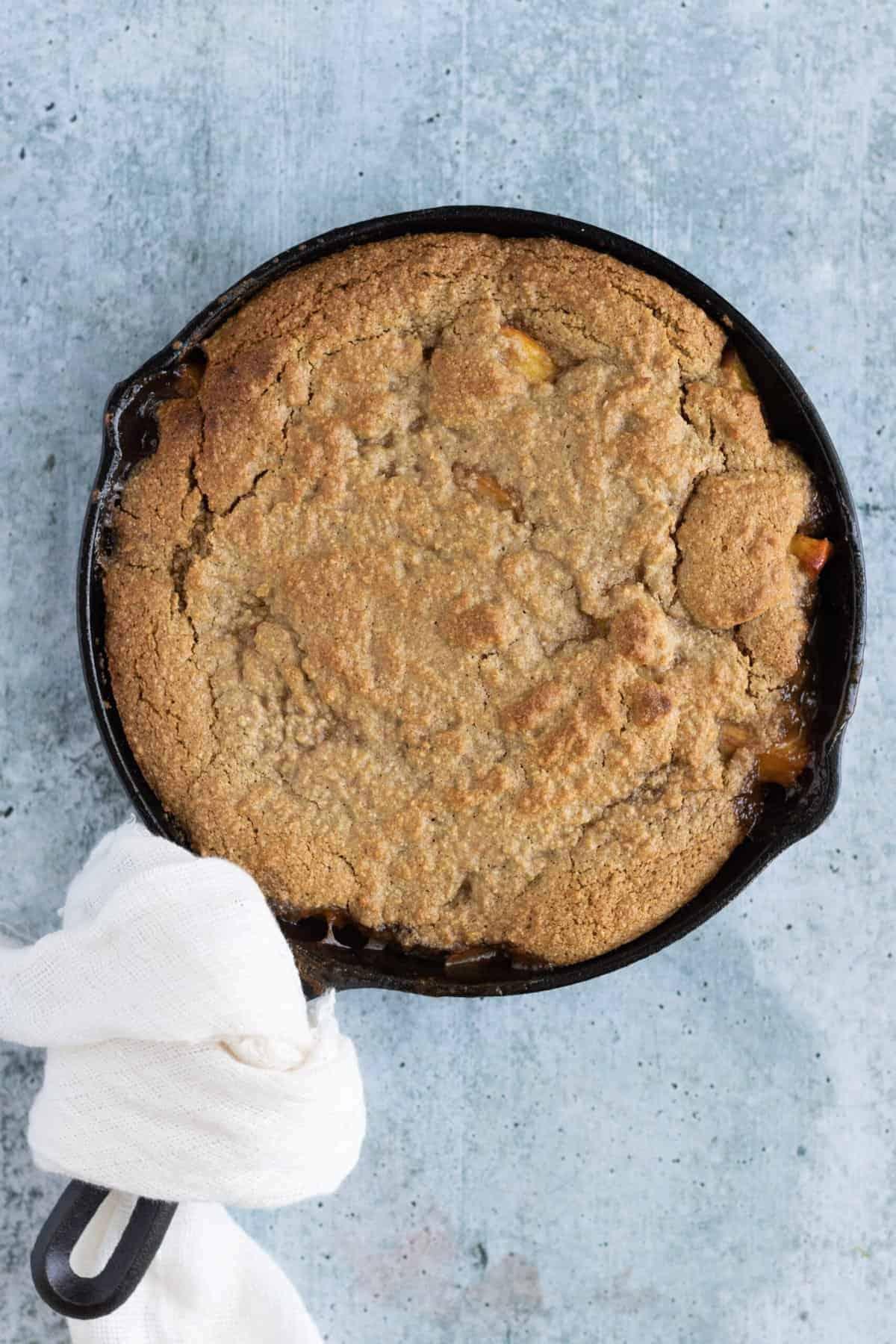Grilled Peach Cobbler Recipe