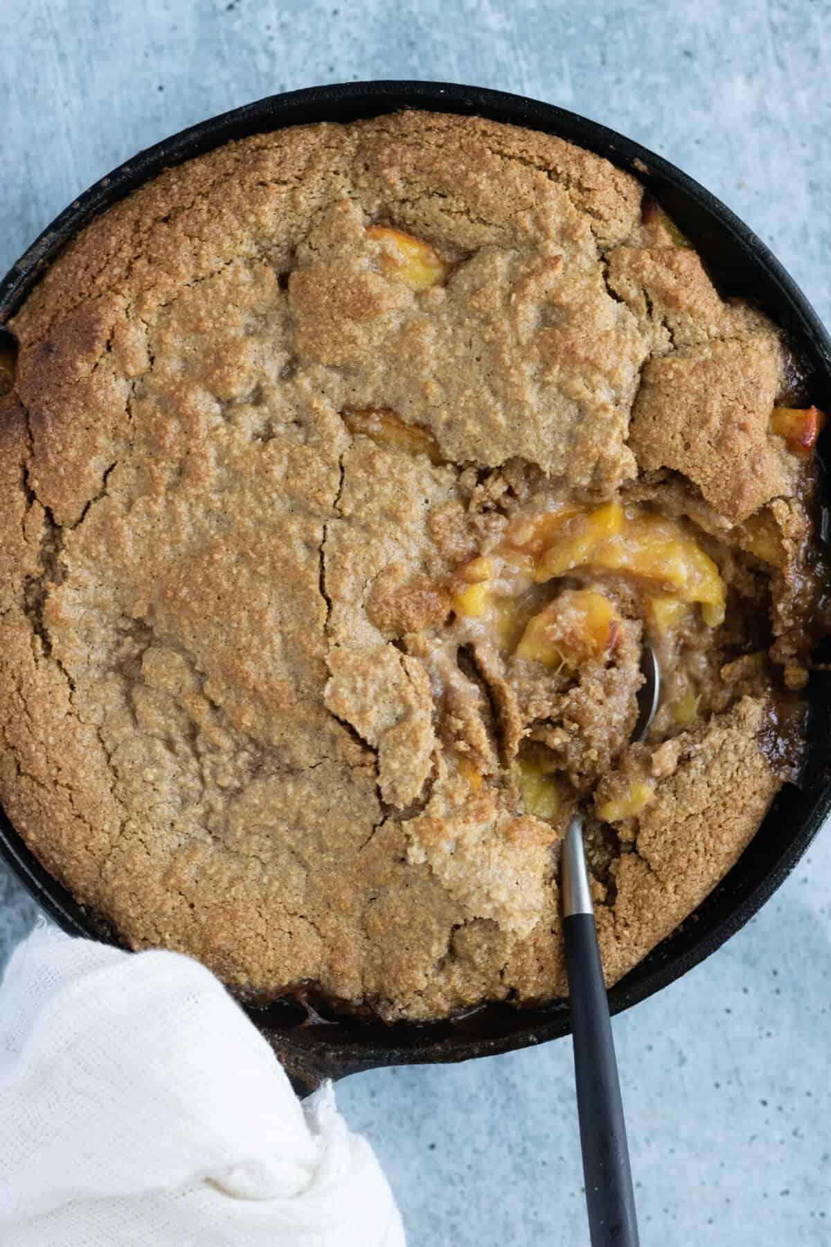 Vegan Gluten-Free Peach Cobbler Recipe