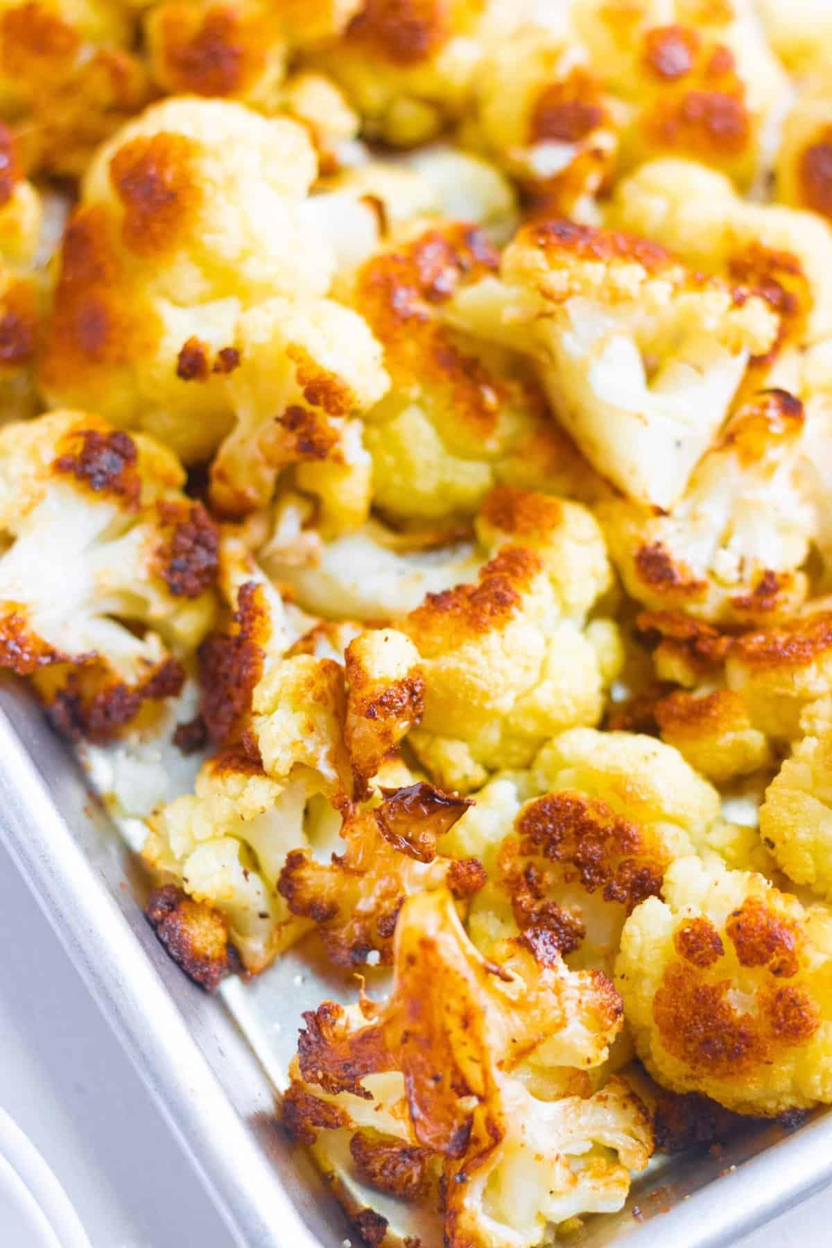 Crispy Oven Roasted Cauliflower