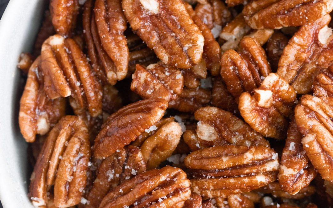Healthy Maple Candied Pecans (refined sugar-free)